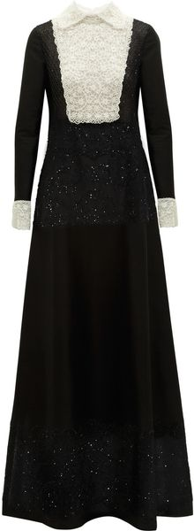 Valentino Beaded Cotton and Silkblend Gown - Lyst