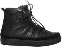 Damir Doma Falco Layered Leather High Top Trainers Black - Lyst