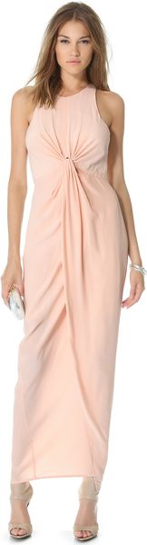 Zimmermann Sleeveless Knot Front Gown - Lyst