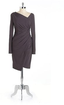 Vera Wang Draped Jersey Dress - Lyst