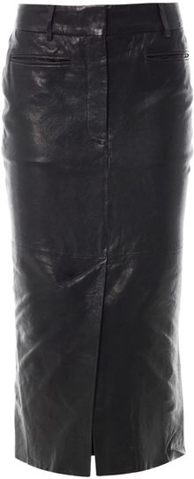 Haider Ackermann Kills Leather Pencil Skirt - Lyst