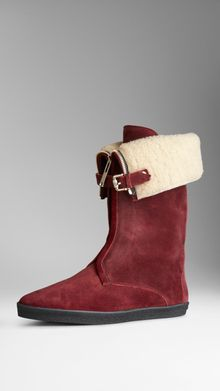 Burberry Shearlinglined Suede Weather Boots - Lyst