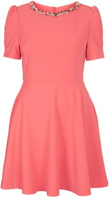Topshop Crystal Neck Dress By Sister Jane - Lyst