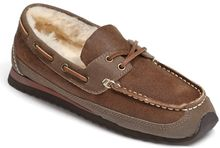 Acorn Lace Up Genuine Sheepskin Slipper - Lyst