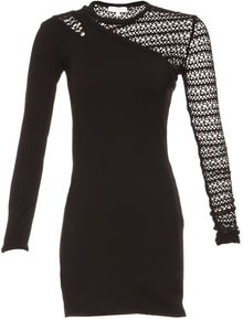 Iro Long Sleeve Bodycon Open Knit Sleeve Dress - Lyst
