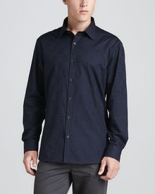 Michael Kors Collection Check Classic Fit Shirt - Lyst
