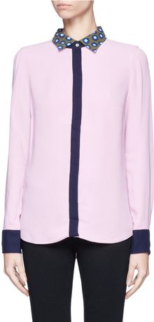 J.Crew Removable Collar Boy Blouse - Lyst