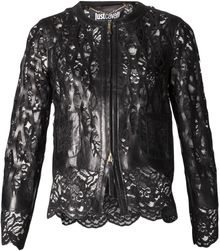 Just Cavalli Lamb Leather Jacket - Lyst
