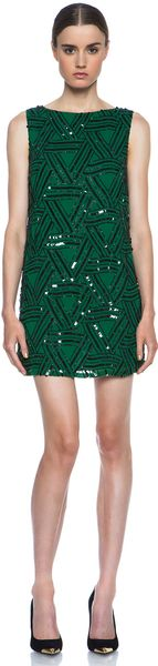 Alice + Olivia Alice Olivia Elliotte Embellished Shift Dress - Lyst