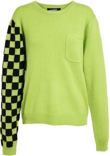 Jeremy Scott Checkerboard Wool Knit - Lyst