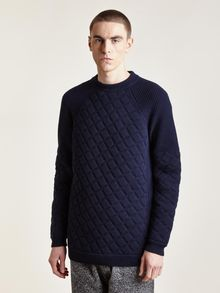 Damir Doma Mens Kolar Padded Knit Sweater - Lyst