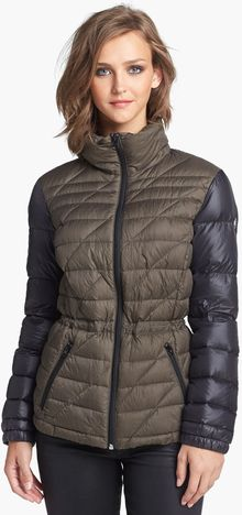 Bernardo Two Tone Packable Goose Down Anorak Jacket - Lyst