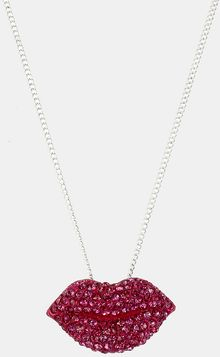 Betsey Johnson Girlie Pendant Necklace - Lyst
