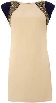 Little Mistress Embellished Shoulder Dress - Lyst