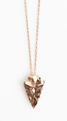 Pamela Love Mini Arrowhead Pendant - Lyst
