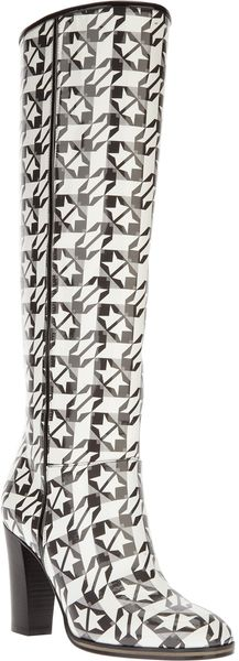 Pollini Knee High Boot - Lyst
