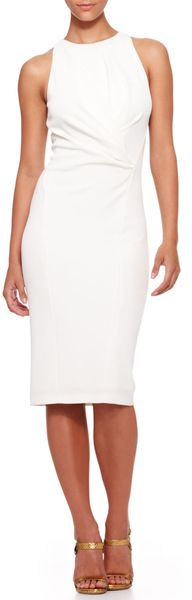 Donna Karan New York Sleeveless Drapedwaist Sheath Dress - Lyst