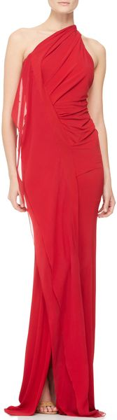 Donna Karan New York Draped Oneshoulder Evening Gown - Lyst