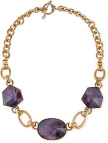 Stephen Dweck Galactic Rock Crystal Necklace Purple - Lyst