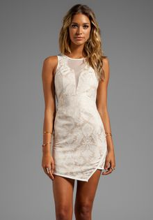 Style Stalker Shorty Dress in Cream - Lyst