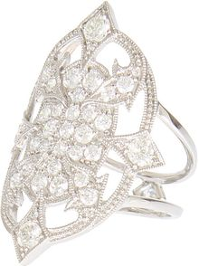 Stone White Gold and White Diamonds Vicious Ring - Lyst
