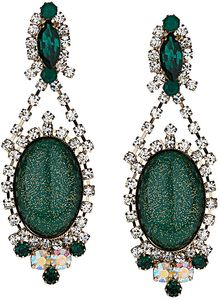 Topshop Premium Emerald and Crystal Drop Earrings - Lyst