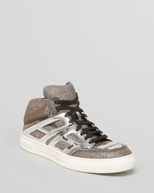 Alejandro Ingelmo Lace Up High Top Sneakers Tron - Lyst
