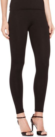Ralph Lauren Collection Silkjersey Leggings Black - Lyst