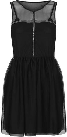Topshop Randall Black Mesh Dress By Goldie - Lyst