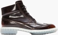 Alejandro Ingelmo Burgundy Ombre Leather Wooster Wingtip Brogue Boots - Lyst