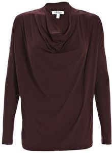 Farhi By Nicole Farhi Stretch Jersey Top Oxblood - Lyst
