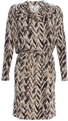 Farhi By Nicole Farhi Herringbone Jersey Dress - Lyst