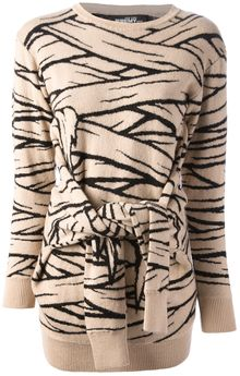 Jeremy Scott Tie Front Dress - Lyst