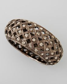 Jose & Maria Barrera Crystalencrusted Lattice Bracelet - Lyst