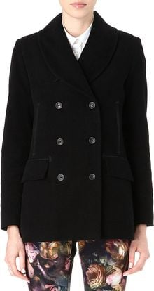 Paul By Paul Smith Moleskin Peacoat - Lyst