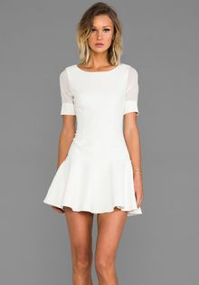 Elizabeth And James New Amalia Dress in Ivory - Lyst