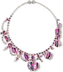 Tom Binns Arty Purple Paint Drip Necklace - Lyst