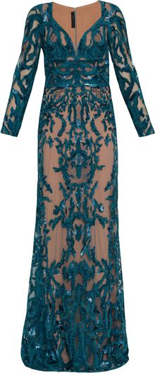 Elie Saab 17 Ls V Neck Beaded Gown - Lyst