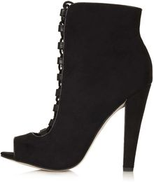Topshop Affair Lace Up Boots - Lyst