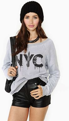 Nasty Gal Chaser Nyc Graffiti Sweatshirt - Lyst