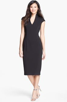 Alexia Admor Mock Collar Sheath Dress - Lyst