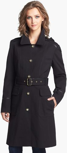 Vince Camuto Ponte Military Trench Coat with Detachable Hood - Lyst