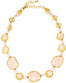 Jose & Maria Barrera Short Light Pink Quartz Necklace - Lyst