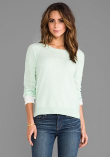 Duffy Cashmere Pullover in Mint - Lyst