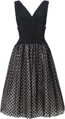 Eliza J Spotted Skirt 50s Style Dress - Lyst