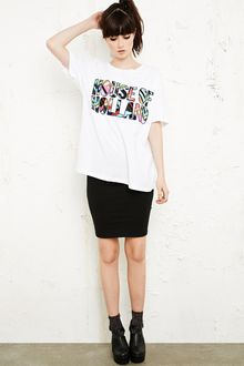House Of Holland Logo Slogan Tee - Lyst