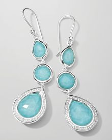 Ippolita Stella 3drop Earrings in Turquoise Diamonds - Lyst