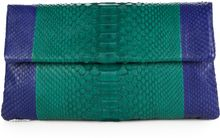 Hunting Season Colorblock Python Clutch - Lyst