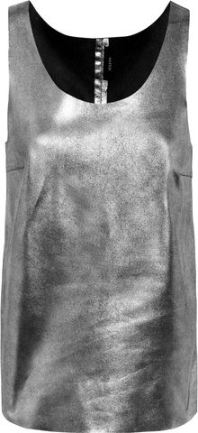 Joseph Deborah Metallic Leather Tank - Lyst