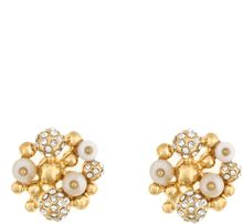 Kara Ross 18kt Gold Platedbrass Resin Cluster Stud Earrings - Lyst